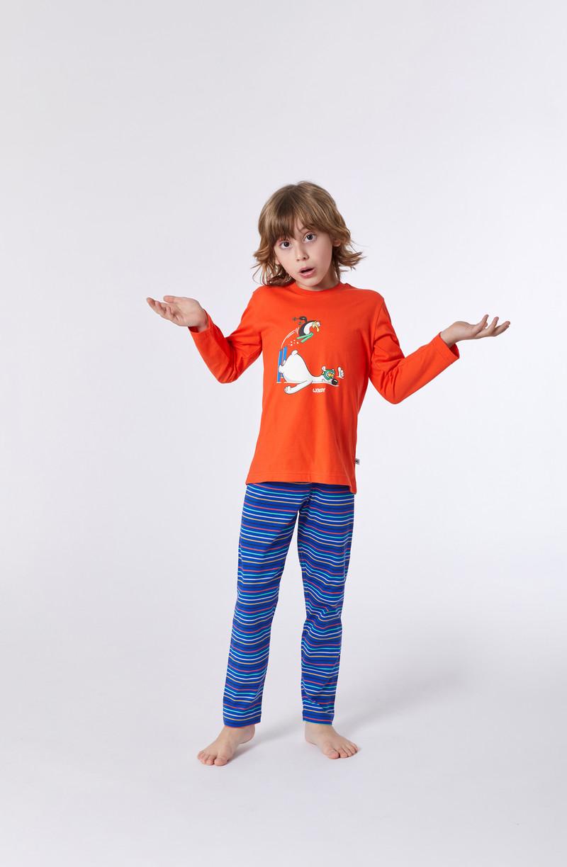 Woody Unisex pyjama, oranjerood