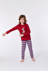 Woody Unisex pyjama, donker rood