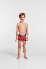 Woody Jongens short, duopack rood + rood roze gestreept