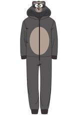 Unisex onesie, wasbeer