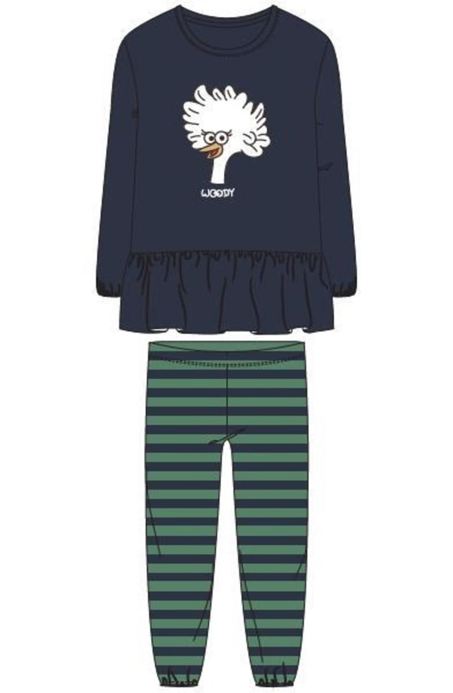 Meisjes-Dames pyjama, donkerblauw