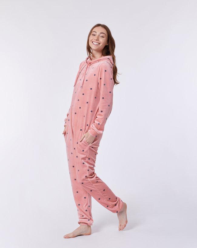 Woody Meisjes-Dames onesie, roze sterren