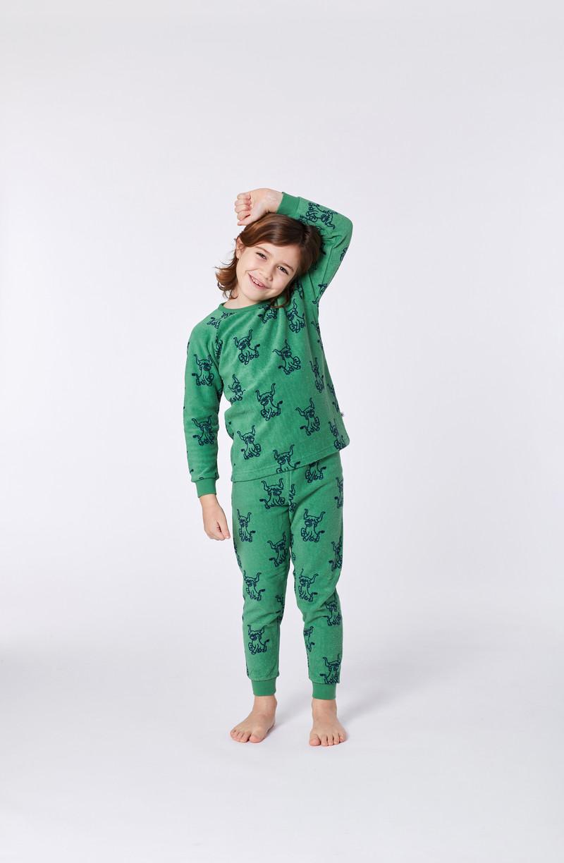 Woody Unisex pyjama, groen hooglander
