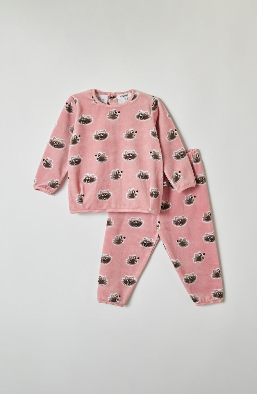 Woody Meisjes pyjama, roze wasbeer