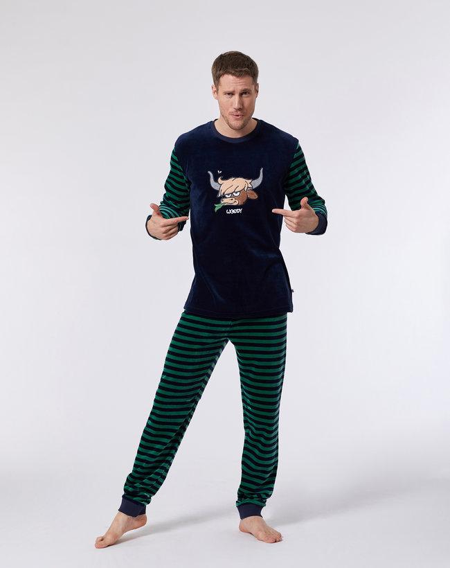 Woody Jongens-Heren pyjama, donkerblauw