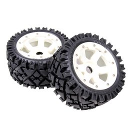 Rovan 5B rear terrian tyres set with nylon hub AIT 170x80 (2pcs.)
