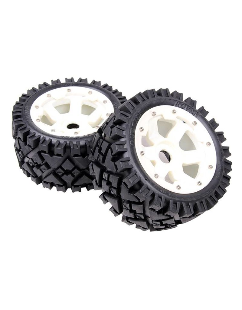 Rovan 5B rear terrian tyres set with nylon hub AIT 170x80 (2pcs.)