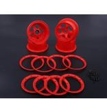 Rovan 5B New Gen.4 High strength nylon front and rear wheel hub sets