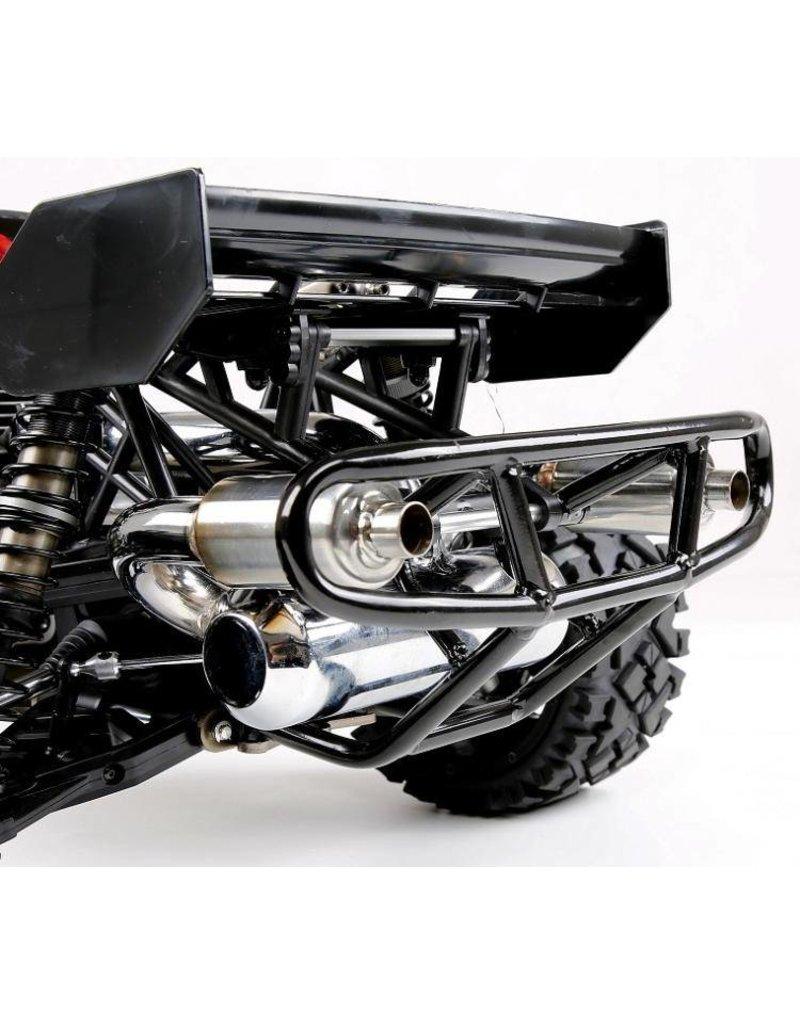 Rovan Buggy double exhaust pipe with muffler / dubbele uitlaat met demper