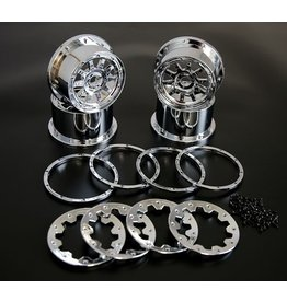 Rovan 5B Chrome Wheels Set (4pcs)