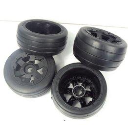 Rovan 5B Slicks / Whole set of new road tyres (4pcs) 170x60 en 170x80