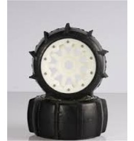 Rovan Sports 5T/5SC Sand tyres rear with nylon hubs (10 spoke rims) - 2pcs.