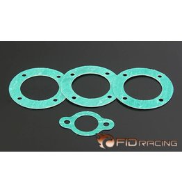FIDRacing No asbestos material differential gear gasket (4pcs)