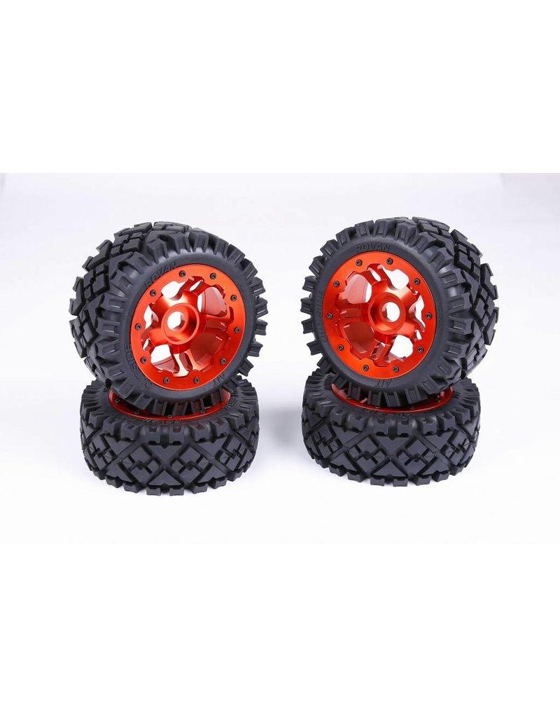 Rovan CNC Alloy Wheels hubs sets / aluminium wiel set
