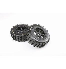 Rovan 5T/5SC knobby wheel set (2pcs) 195x75 / MT Tire