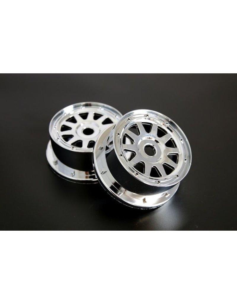 Rovan  5B Chrom Vorderrad set  (auch passend für 5T / 5SC)