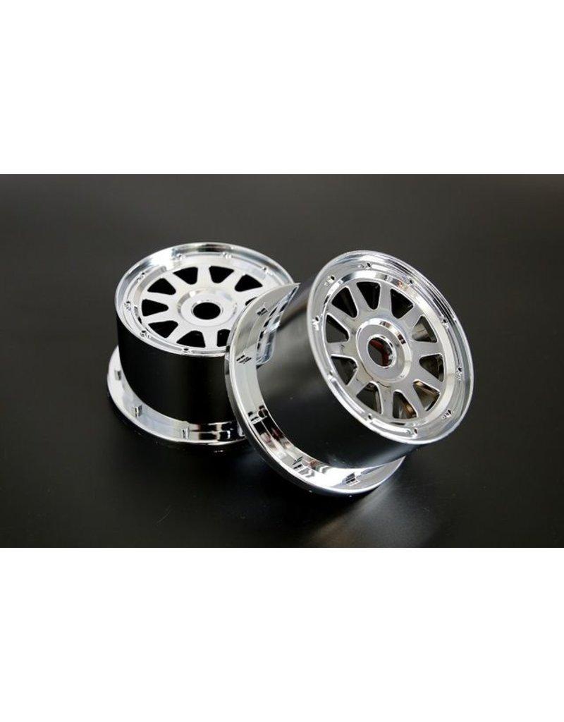 Rovan Sports 5B chromen achterwielen set (ook voor 5T en 5SC)