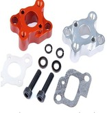 Rovan Sports CNC metalen inlaat/inlaatbuis voor pijp - geschikt voor motoren tot 30,5cc (in rood en zilver)