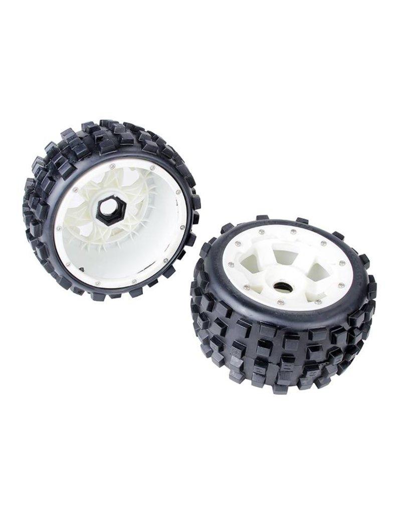 Rovan 5B Rear knobby tyres set with nylon hub 170x80 (2pcs)