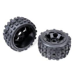 Rovan Sports Knobby wheel set(2pcs/set) with heavy-duty beadlock ring