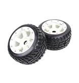 Rovan 5B new rear road tyre set with nylon hub Tarmac Buster II 170x80 (2pc)