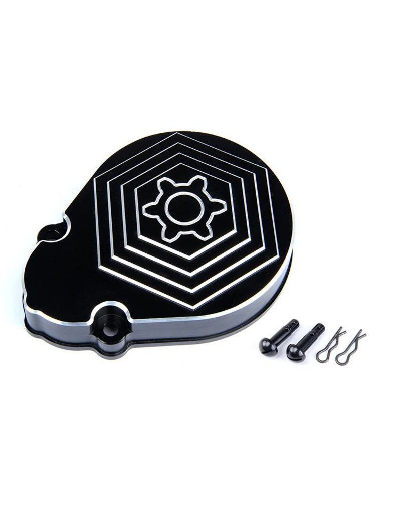 Rovan CNC Black White Gear Cover