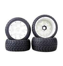 Rovan Tarmac Buster 5B Road tyres set with nylon hub (4pcs.) 170x60 + 170x80