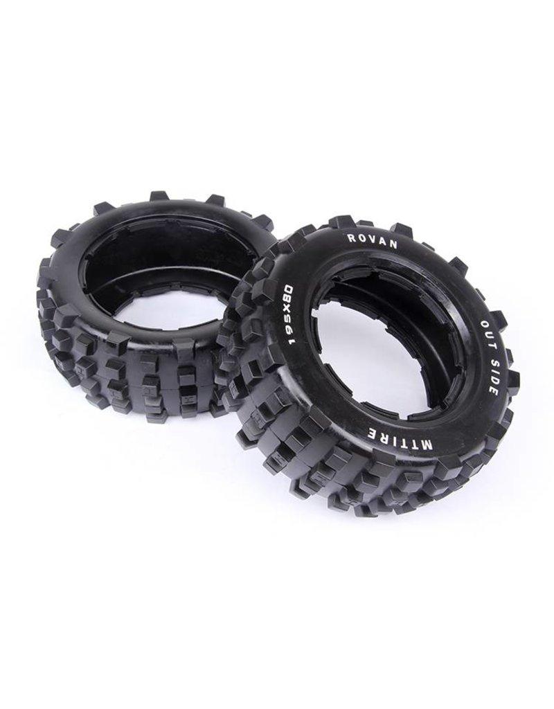 Rovan 5T/5SC rear Spike tire general leather 195x80 (2pc.)
