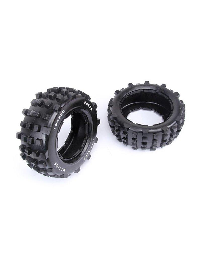 Rovan Sports 5T/5SC rear Spike tire general leather 195x80 (2pc.)