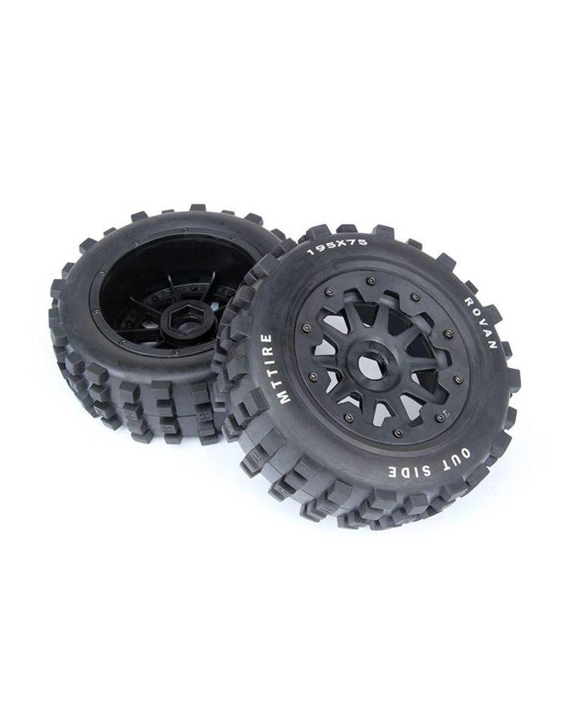 Rovan Sports 5T/5SC knobby wheel set  (2pcs) 195x75 / MT Tire