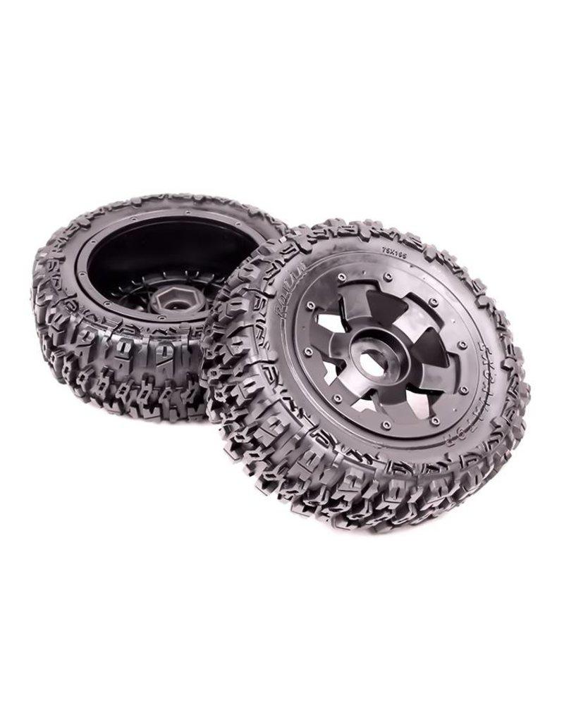 Rovan Sports 5T Knobby wheel tire set rear (2pcs) Excavator 80x195 (2pc)