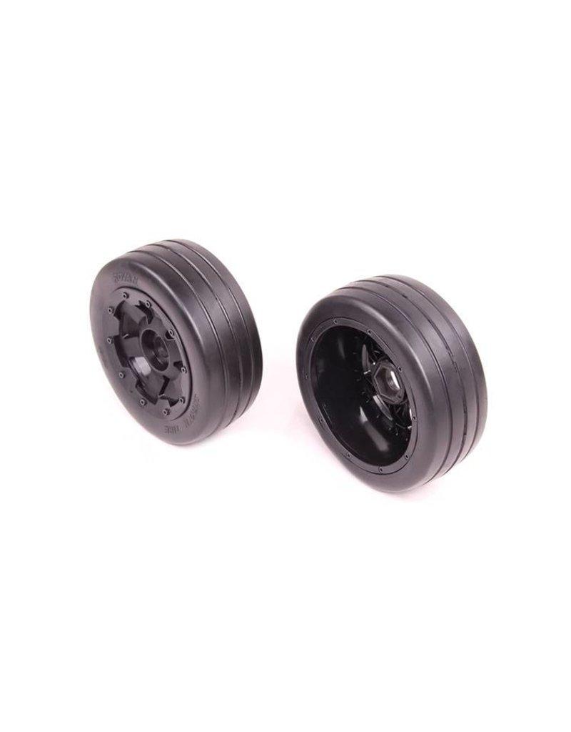 Rovan 5B front slick tyres set 2pcs Smooth Tire slicks 170x60