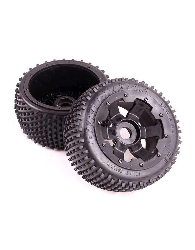 Rovan 5B 2nd gnt off road wheel rear (2pc) 170x80 Dirt Buster banden
