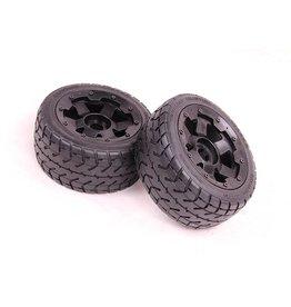 Rovan Sports Front highway wheel set with heavy-duty beadlock ring