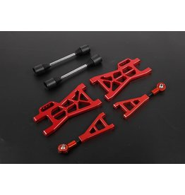 Rovan Sports Nieuw type CNC aluminium draagarmen achterzijde set voor baha (120mm per kant langer als standaard)