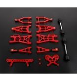 Rovan Nieuw type CNC aluminium draagarmen voor en achterzijde set + shock tower voor en achter voor baha