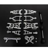 Rovan Sports Nieuw type CNC aluminium draagarmen voor en achterzijde set + shock tower voor en achter voor baha