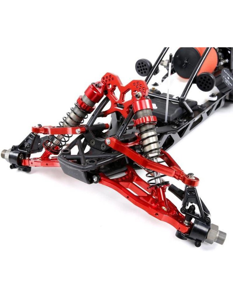 Rovan New Baja CNC alu extended Front  Rear A Arm kit compleet including front shock tower and rear shock mount