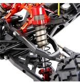 Rovan Sports  Baha CNC HD 10mm schokbrekers voor met bijpassende draagarmen (2 st.) in rood, zilver of titanium