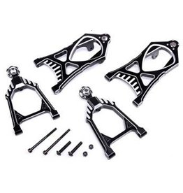 Rovan CNC Black/white front suspension arm set