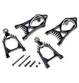 Rovan Sports CNC Black/white front suspension arm set
