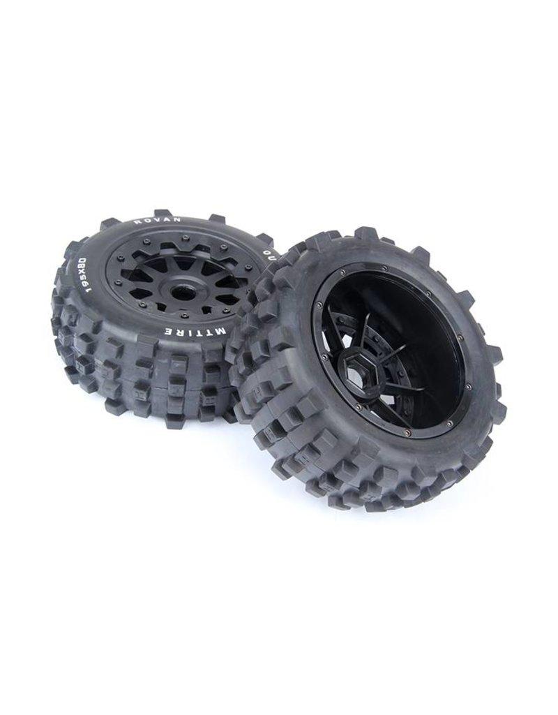 Rovan 5T/5SC Knobby wheel set rear 195x80 (2pcs)