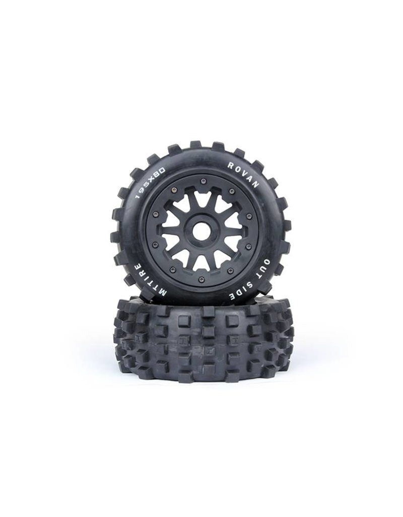 Rovan Sports 5T/5SC Knobby wheel set rear 195x80 (2pcs)