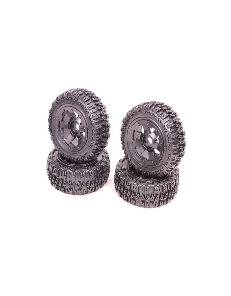 Rovan Sports Excavator 5T truck knobby tires (4 pcs) 80x195+75x195