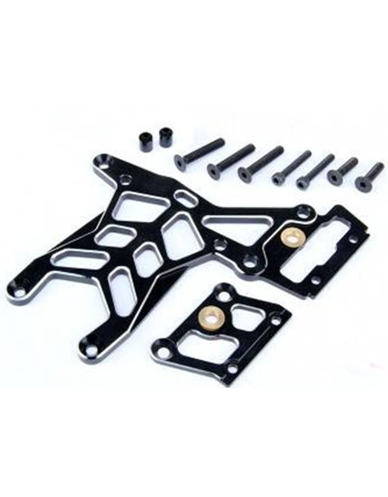 Rovan Sports CNC Black/white rear up thicker connection plate set