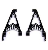 Rovan CNC Black/white rear shock absorb support