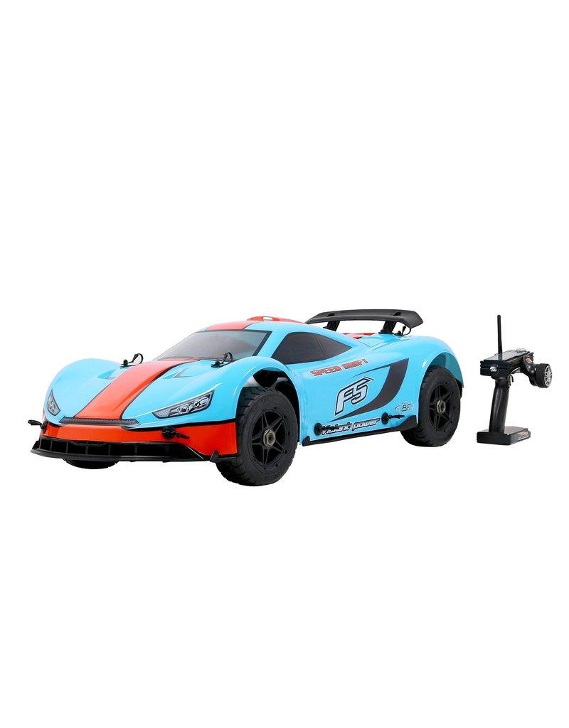 Rovan Sports Rovan ROFUN F5 1/5 2.4G 4WD Drift RC Car 36cc Engine On-road - Blue