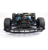 Rovan Rovan ROFUN F5 1/5 2.4G 4WD Drift RC Auto 36cc Benzine Motor On-road - Blauw