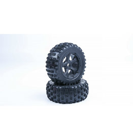 Rovan LT sealed beadlocks Gen. 3 knobby tires with inside cloth and waterproof foam (also fit for BAJA 4WD/SLT)