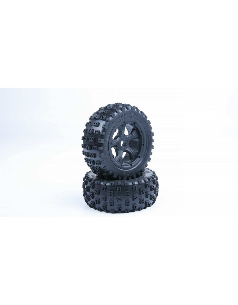 Rovan Sports LT sealed beadlocks Gen. 3 knobby tires with inside cloth and waterproof foam (also fit for BAHA 4WD/SLT)